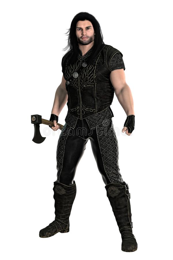 Free 3D Medieval Warrior With Axe Isolated Stock Photos - 138949673