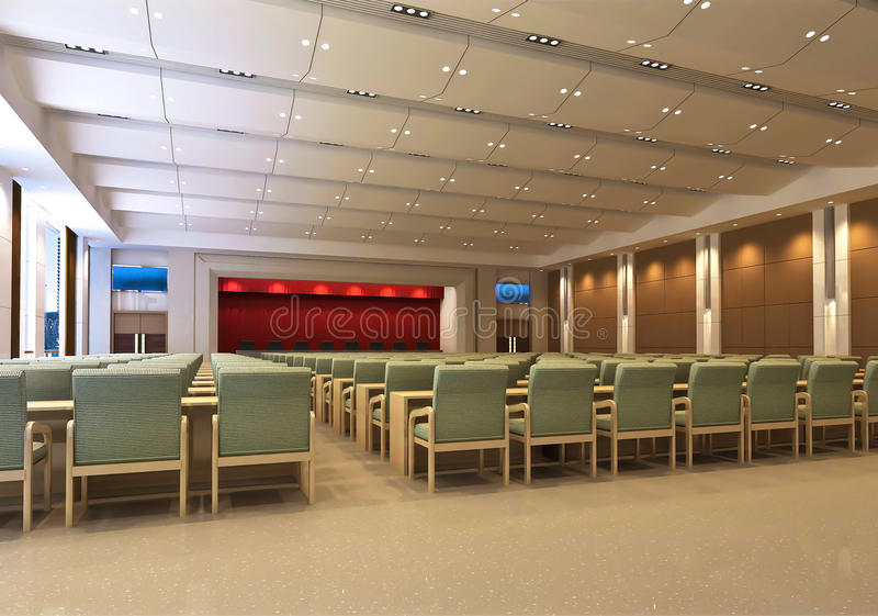 Download 3d meeting room stock illustration. Illustration of work - 17852436