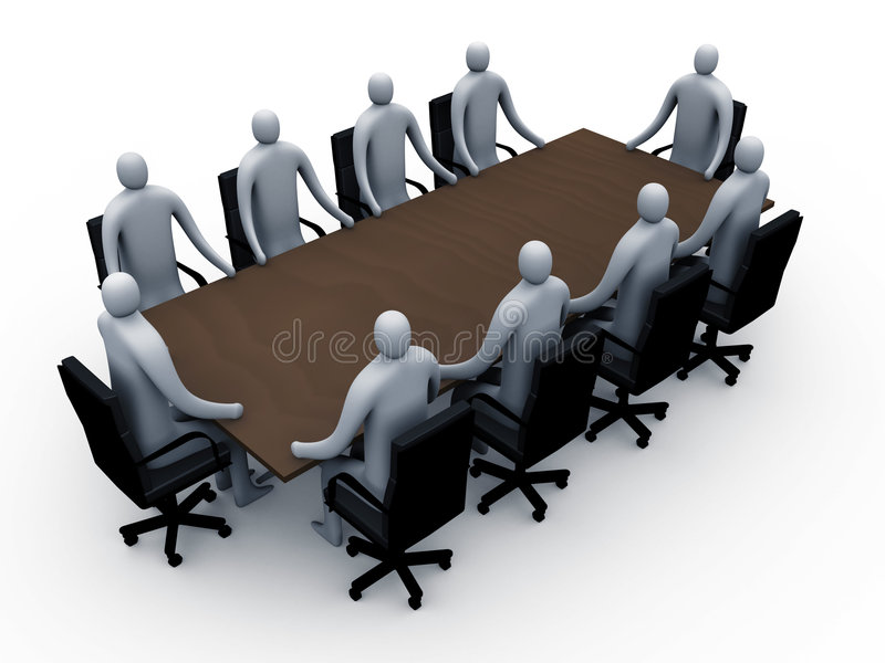 3d meeting room #2 royalty free illustration
