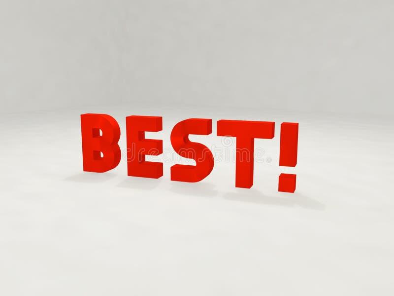 3d Meilleur ! Images stock