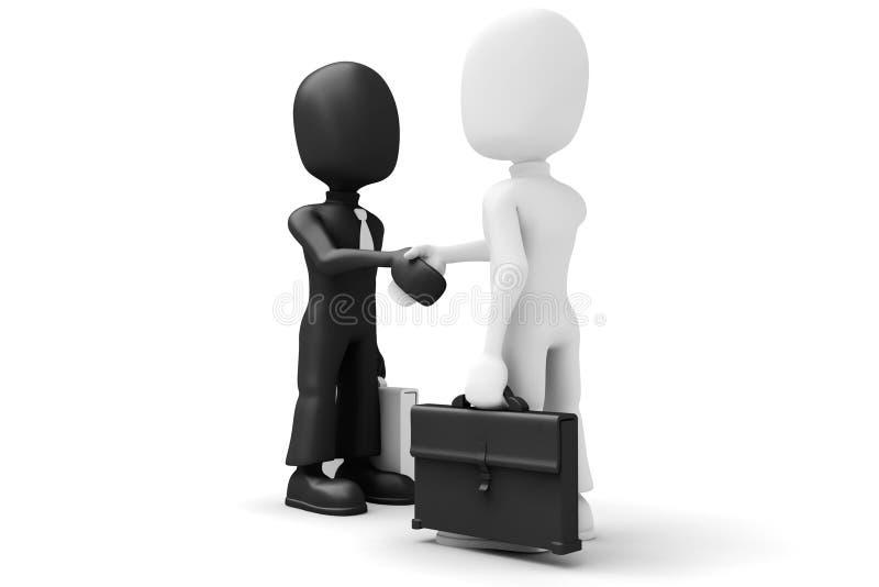Download 3d men shaking hands stock illustration. Image of person - 12373770