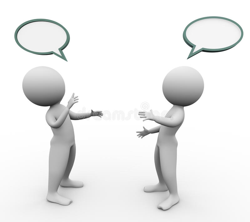 3d men speech bubble royalty free illustration