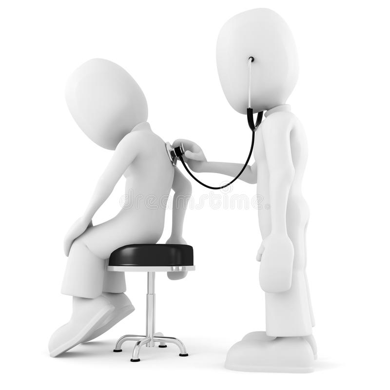 3d mens - medisch examen royalty-vrije illustratie