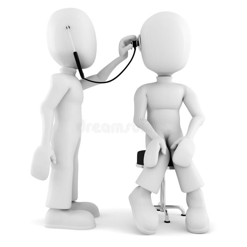 3d mens - medisch examen vector illustratie