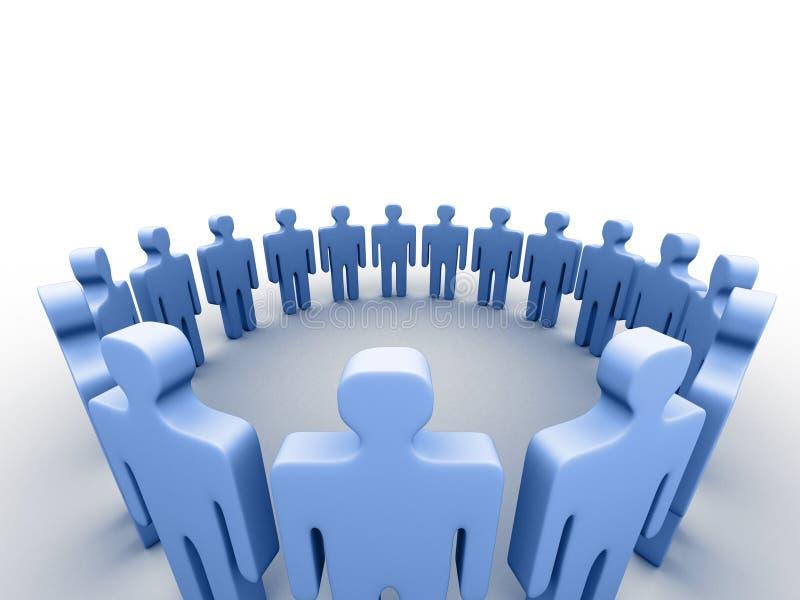 3d mensen in een cirkel vector illustratie