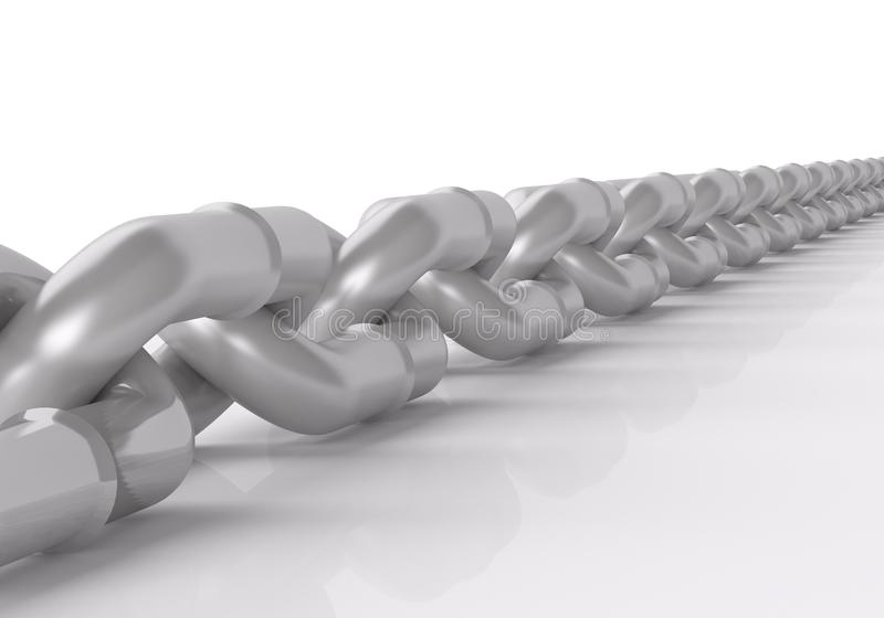 3d Metal Chain  On White Royalty Free Stock Photo