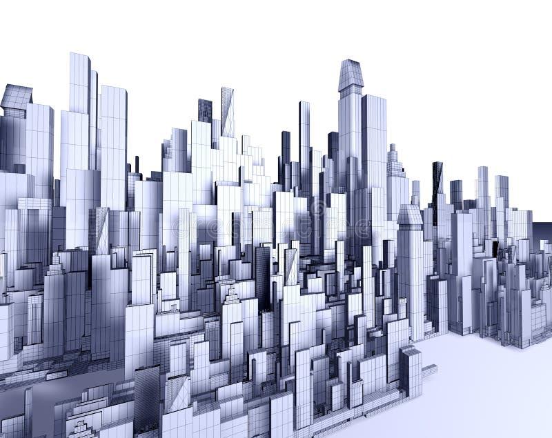3d miasto mapa royalty ilustracja