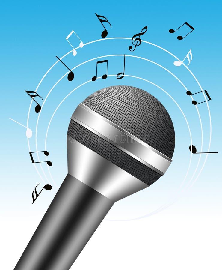 3d microfoon stock illustratie