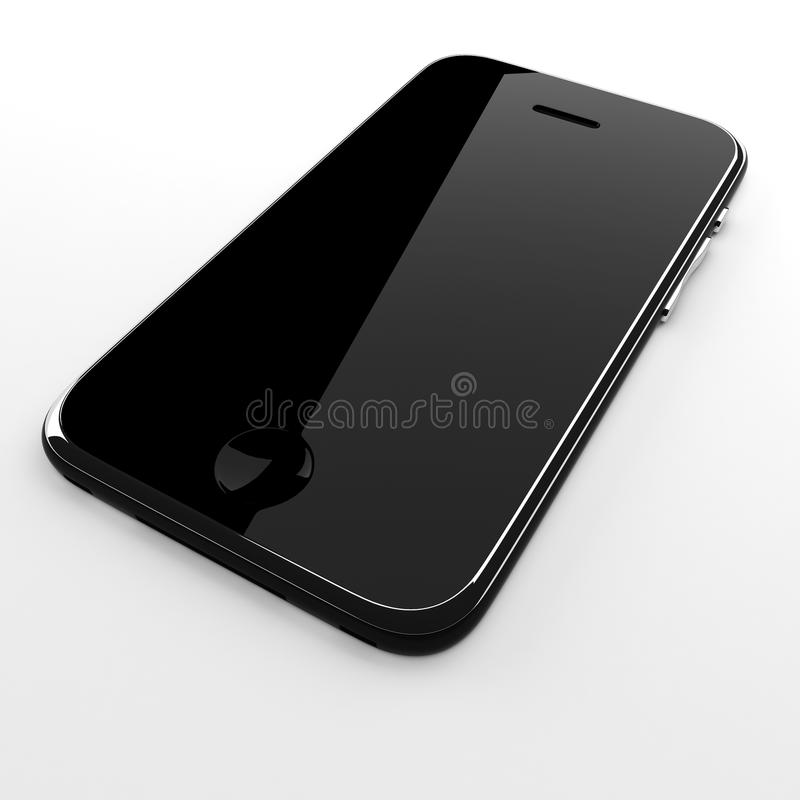 3d mobile phone isolated on white vector illustration