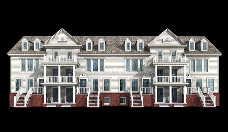3d model of condominium royalty free illustration