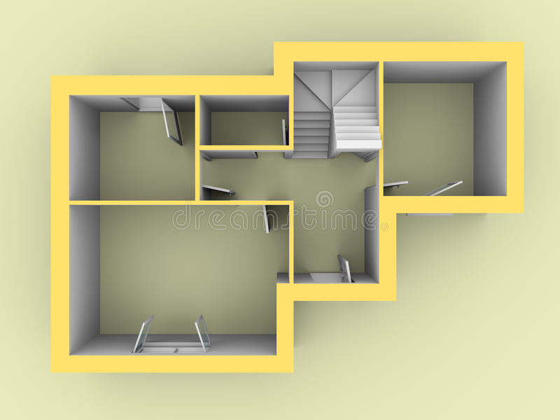 Download 3d model of a house stock illustration. Image of house - 22329145
