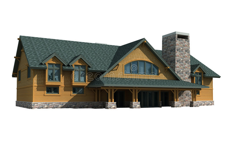 3d Model House royalty free stock image