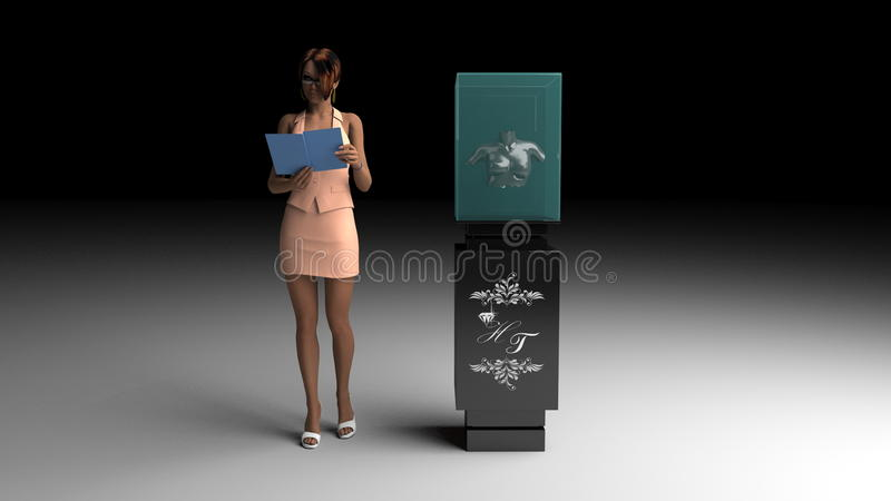 3D model of jewelry display royalty free illustration