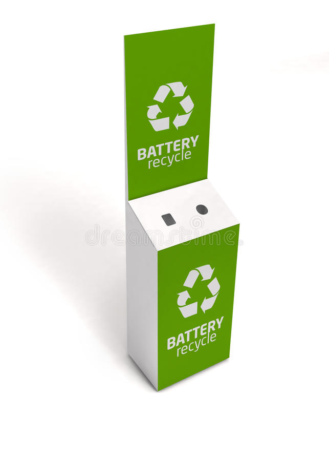 Free 3D Model Of Empty Green Recycle Bin Battery Recycling Stock Photography - 48750202