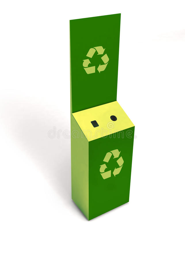 Free 3D Model Of Empty Green Recycle Bin Battery Recycling Stock Images - 48750284