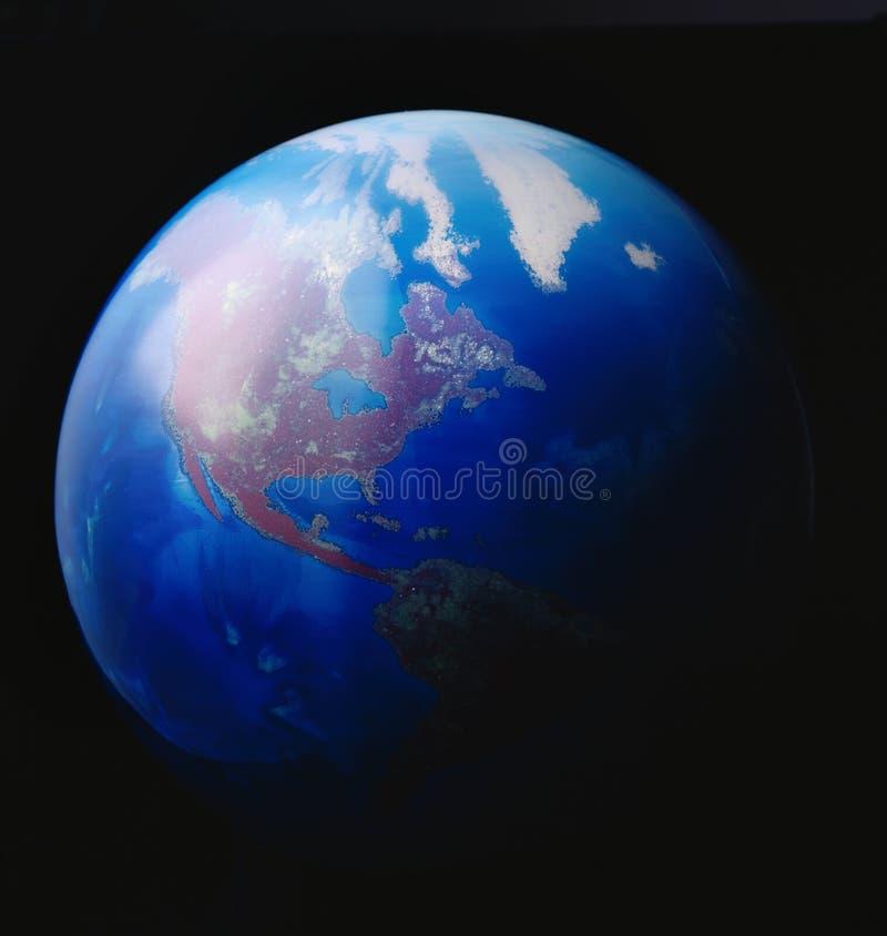 3D Model van de Aarde royalty-vrije stock foto's