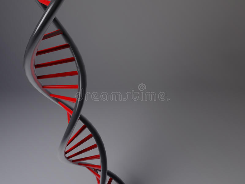 3D model van DNA stock illustratie