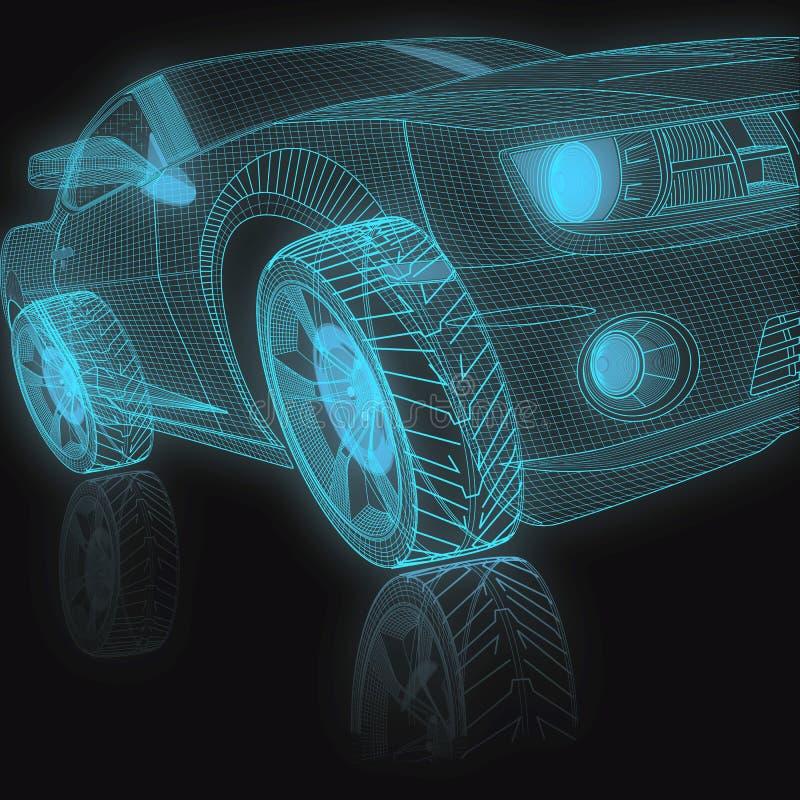 3D ModelAuto royalty-vrije illustratie
