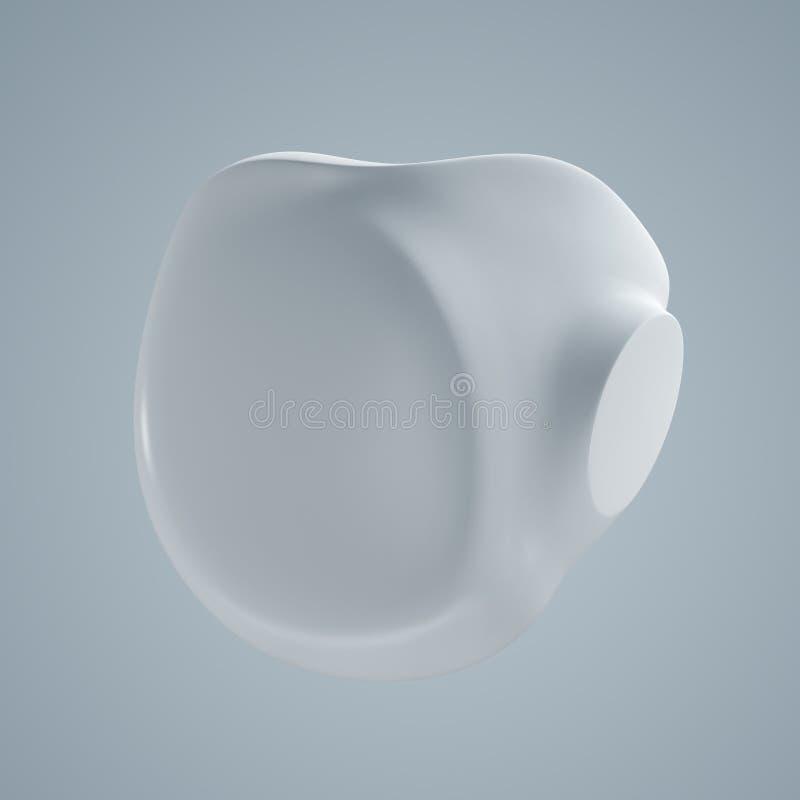 3D modelzaad van hart royalty-vrije stock afbeelding