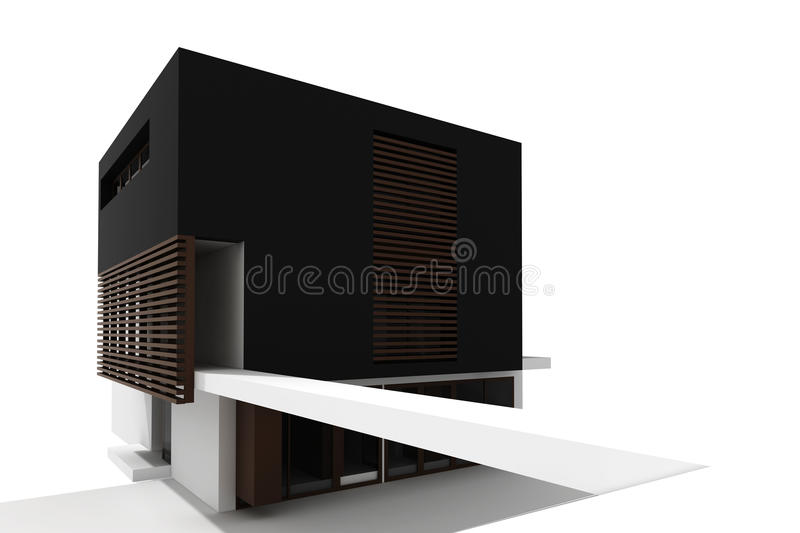 Download 3d Modern House Isolated On White Royalty Free Stock Image - Image: 17007296