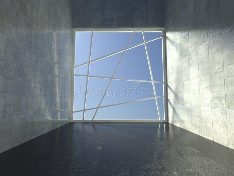 3d Modern Indoor, Empty Corridor Royalty Free Stock Photo