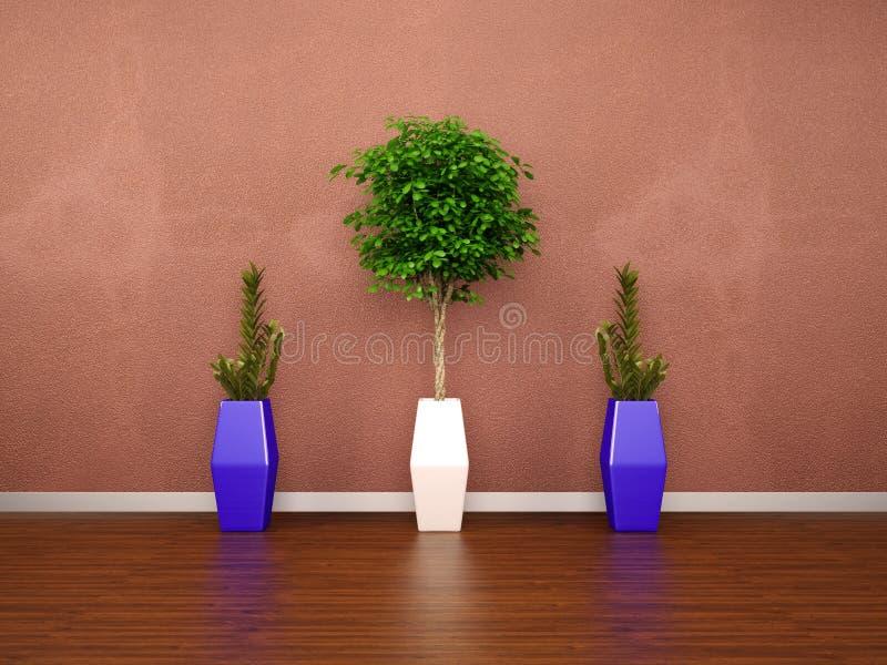 3d modern interior wall royalty free illustration