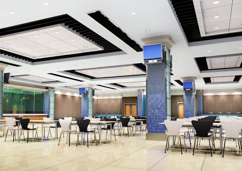 3d modern restaurant royalty free illustration