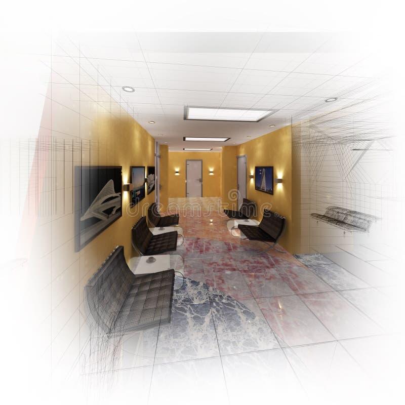 3d modern zaalbureau