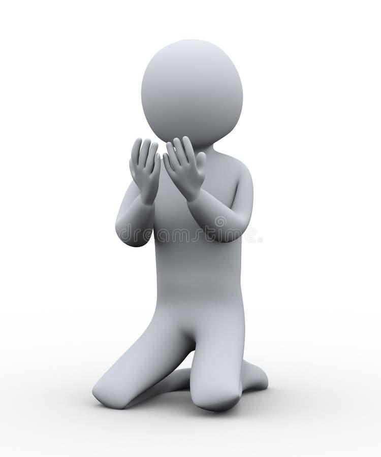 3d modlenie muzułmańska ręka ilustracja wektor