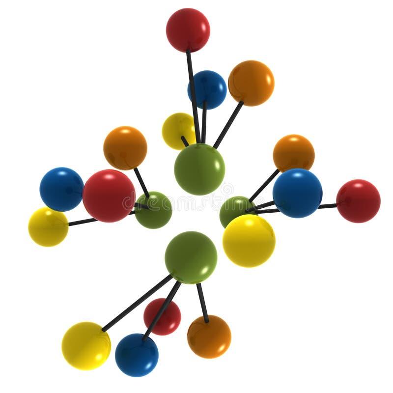 3d molecule royalty free illustration