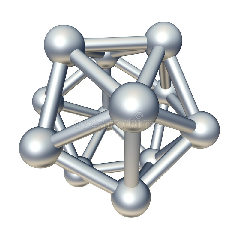 Free 3d Molecule Model Royalty Free Stock Images - 9123539