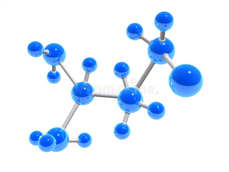 3d molecules royalty free illustration