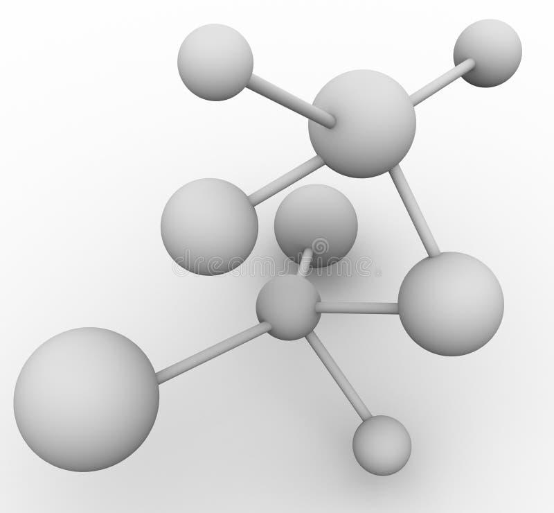 3d molekuła ilustracji