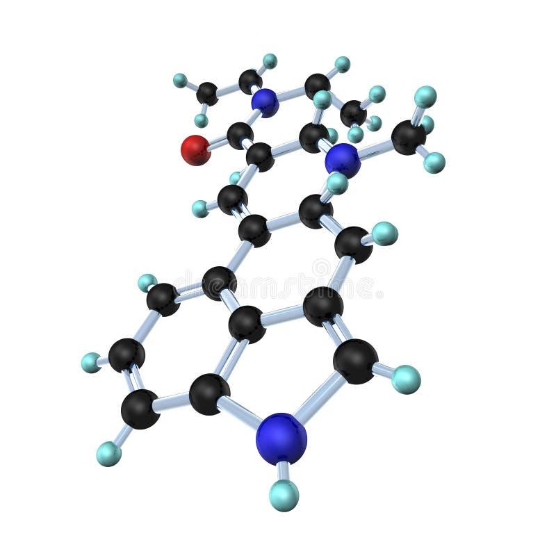 3d molekuła lsd ilustracja wektor