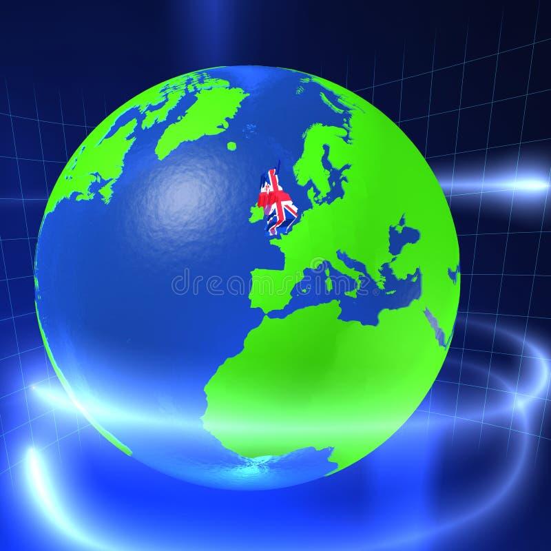 3D monde - R-U illustration libre de droits
