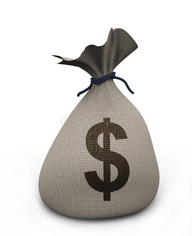 Download 3d money bag stock illustration. Image of save, treasure - 21967367