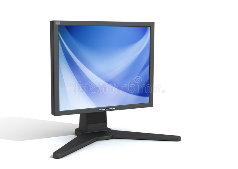 Download 3d Monitor Stock Image - Image: 4751041