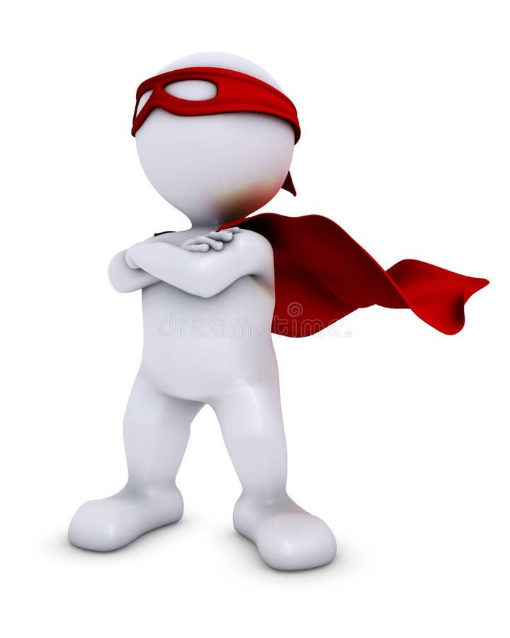 Free 3D Morph Man Super Hero Royalty Free Stock Photo - 46529885