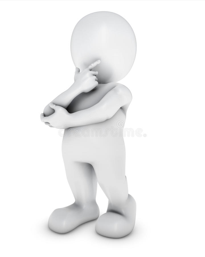 Free 3D Morph Man Thinking Royalty Free Stock Image - 46253316