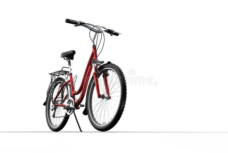 3D mountain bike on grey background stock illustration