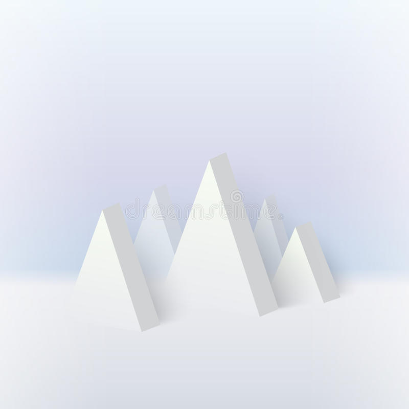 Free 3d Mountain, Snow Graphic Geometric Stock Photography - 63499822