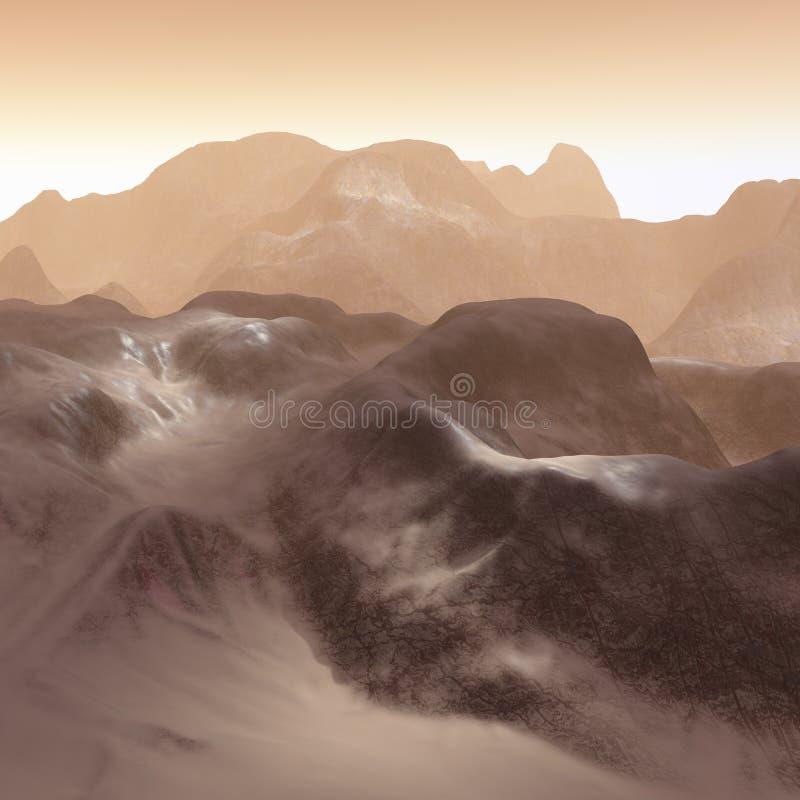 3D mountains landscape stock illustration