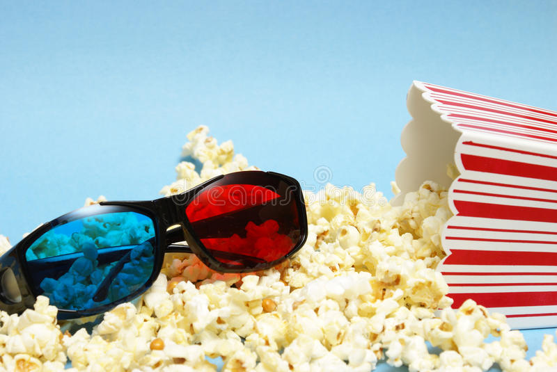 Download 3D Movie Entertainment stock photo. Image of bucket, glasses - 20676228