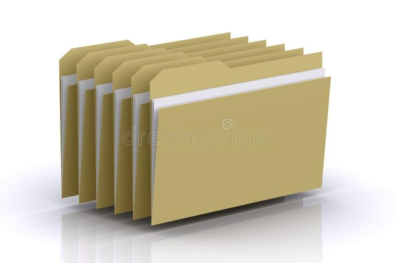 3d Multiple Folders stock photography