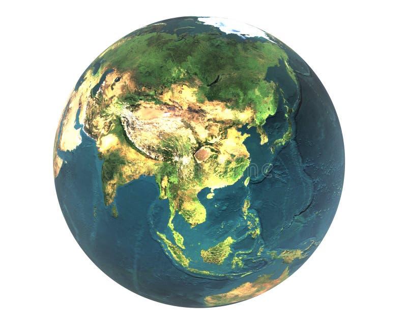 3D mundo Asia ilustración del vector