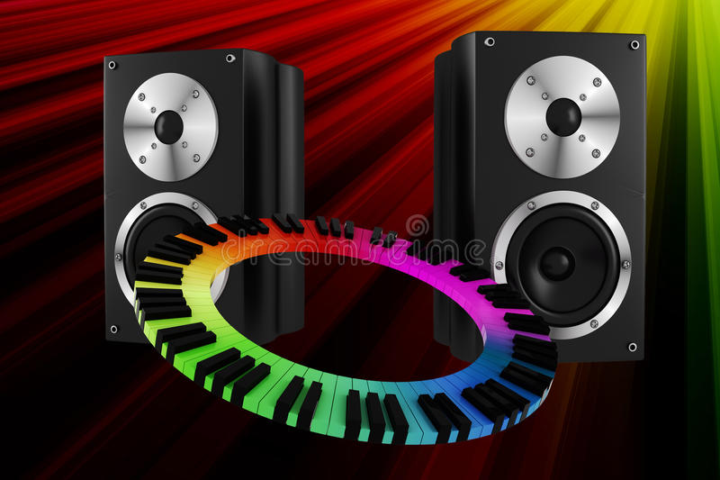 3d music party vector illustration