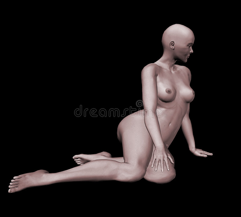 3d naakte vrouw