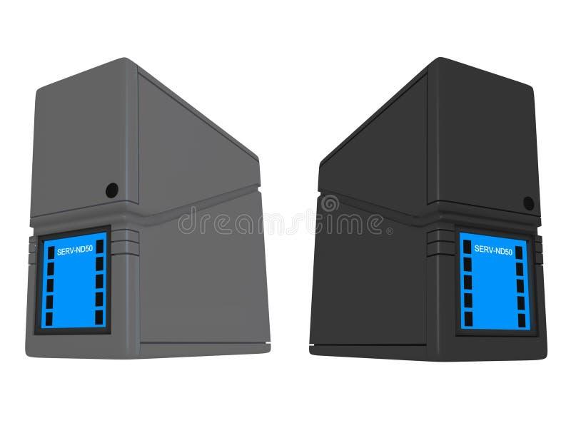 3D Nd van Servers royalty-vrije illustratie