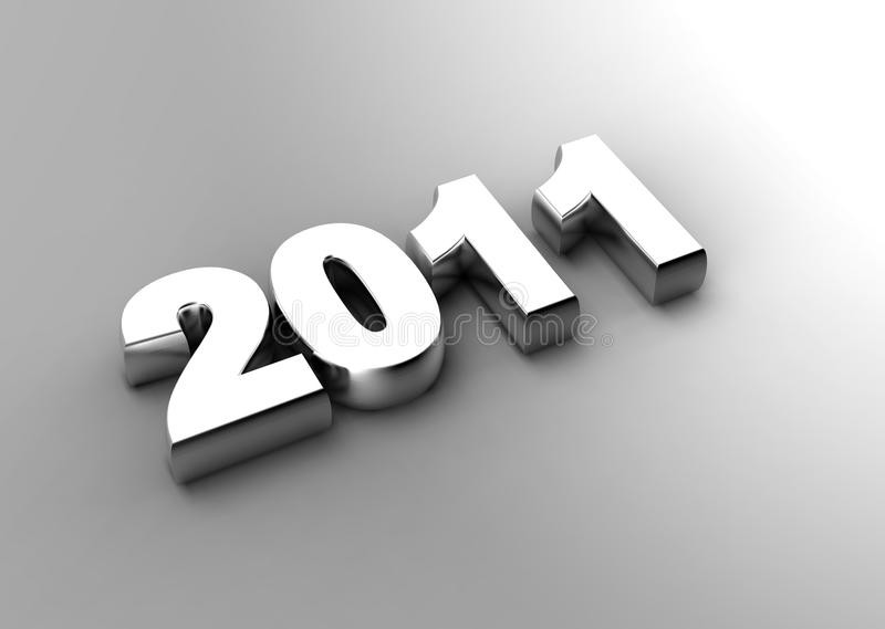 Download 3d new year 2011 stock illustration. Image of creative - 15567659