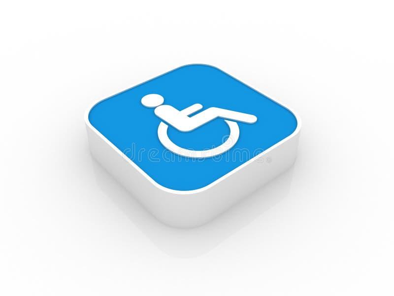 3d niepełnosprawna ikona ilustracji
